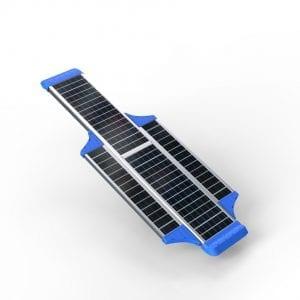 Lampione solare stradale dettaglio pannello fotovoltaico