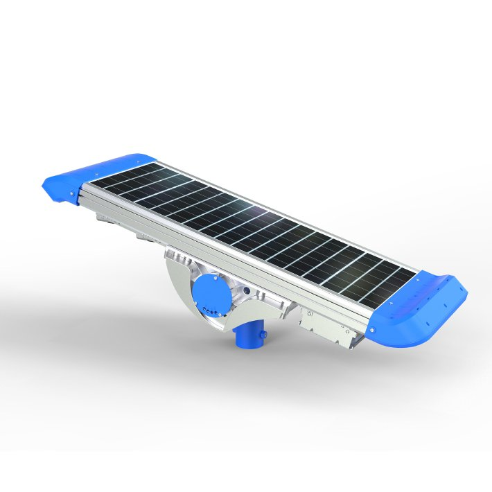 Dettaglio pannello fotovoltaico lampione solare 2000 lumen