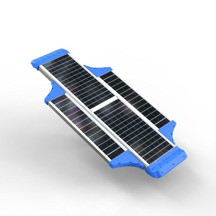 Parte superiore del lampione stradale led con pannello fotovoltaico 500 Lumen