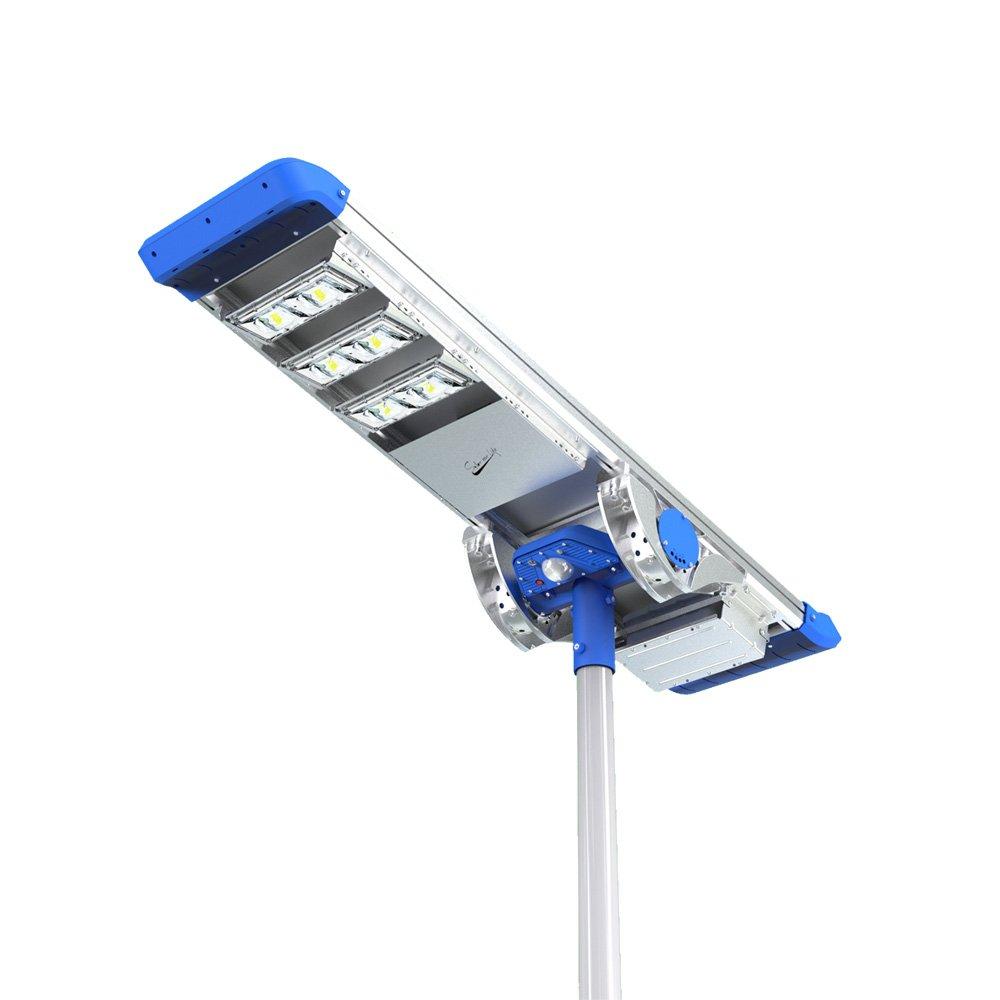 Lampione stradale solare led fotovoltaico 3000 lumen for Filtro per laghetto ad energia solare