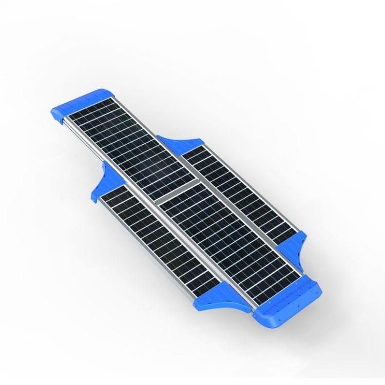 Lampione pannello fotovoltaico 6000 lumen parte superiore