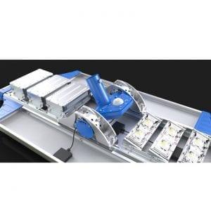 Lampione energia solare stradale 7000 lumen dettaglio dei led