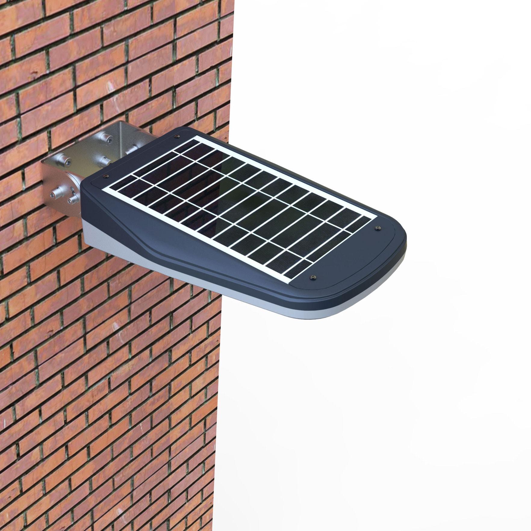 Lampione a led solare da esterno 1000 lumen e con for Lampioni per esterno