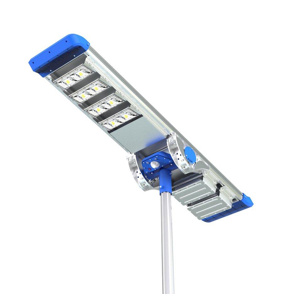 Lampione stradale ad energia solare pannello fotovoltaico for Filtro per laghetto ad energia solare