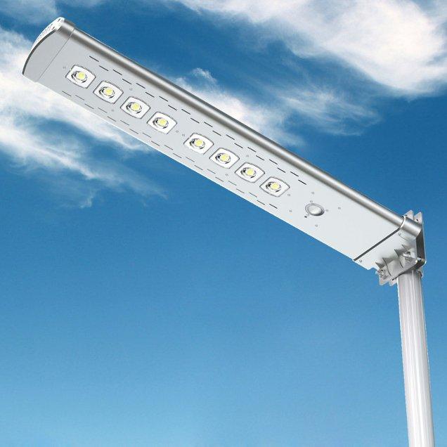 Lampione solare installato