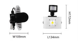 Misure di un faro led con sensore di movimento