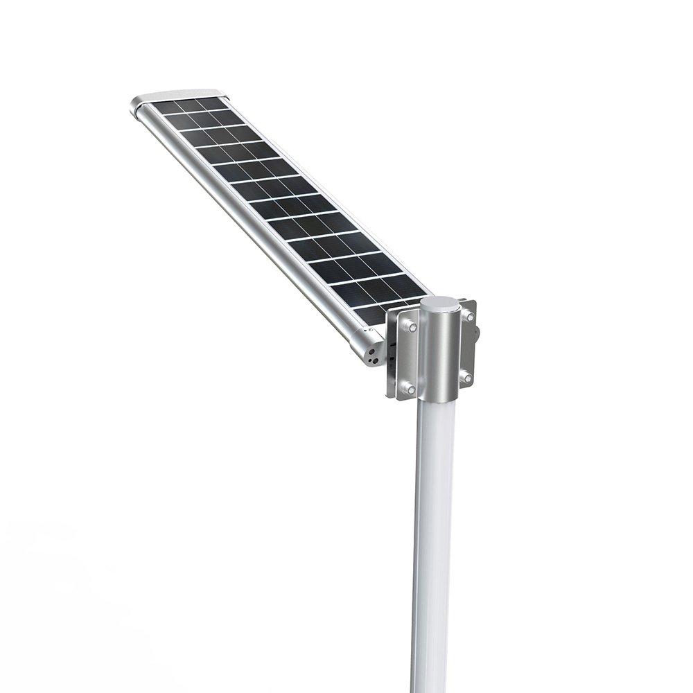 Lampione solare con pannello fotovoltaico 4500 lumen ecoworld - Pannello solare per luci giardino ...