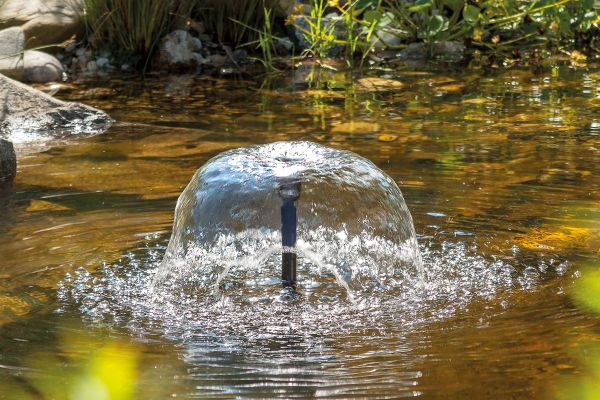 Effetto fontana con pompa solare