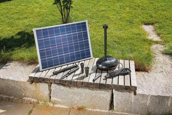 Pompa solare 1700 l h fontana per laghetti con pannello for Pompe per laghetti da giardino