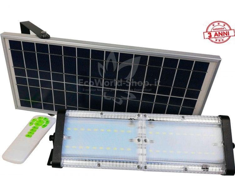 Faro led con pannello solare 300 watt