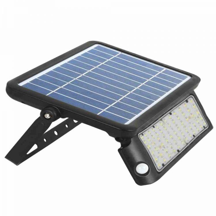 faro solare con pannello orientabile