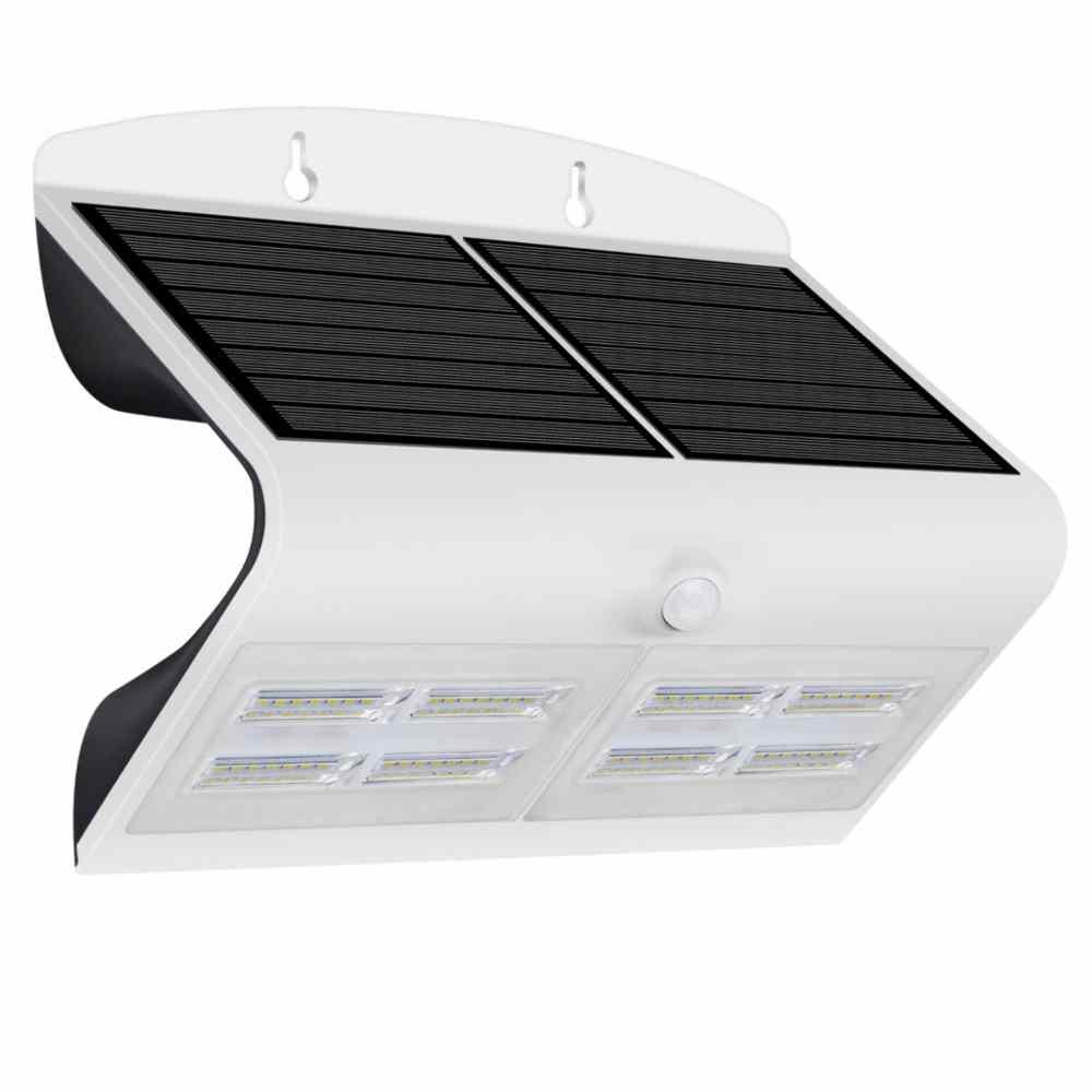 Applique led da esterno ad energia solare 6 8 w ecoworld - Lampada ad energia solare da esterno ...