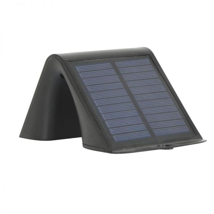 lampada da parete con pannello fotovoltaico