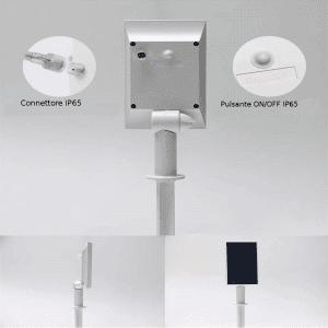 retro pannello solare per luci di natale solari