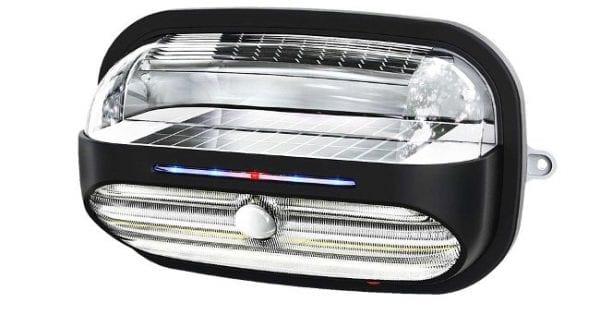 Plafoniera Da Esterno A Batteria : Lampada a led ad energia solare da esterno ecoworld shop