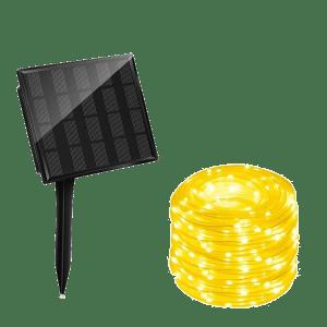 tubo luminoso decorativo ad energia solare luce calda