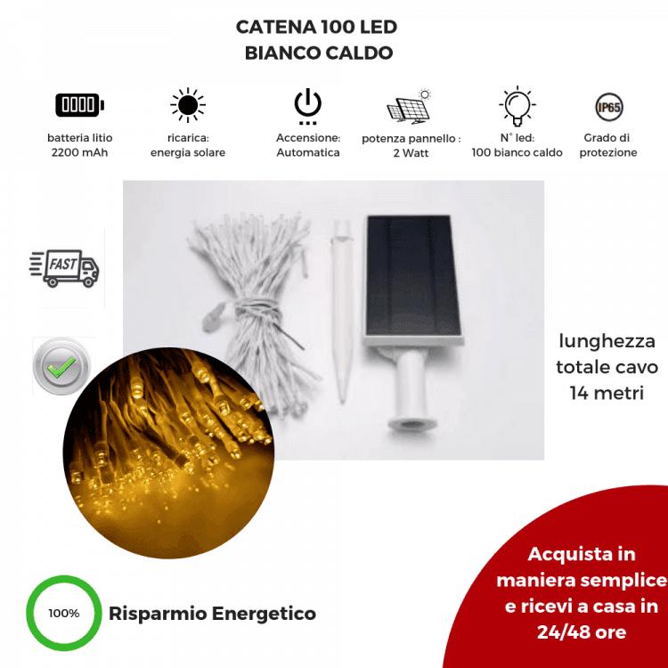 luci di natale a energia solare