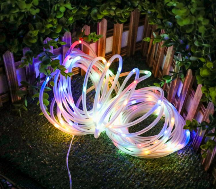 tubo luminoso led multicolor solare