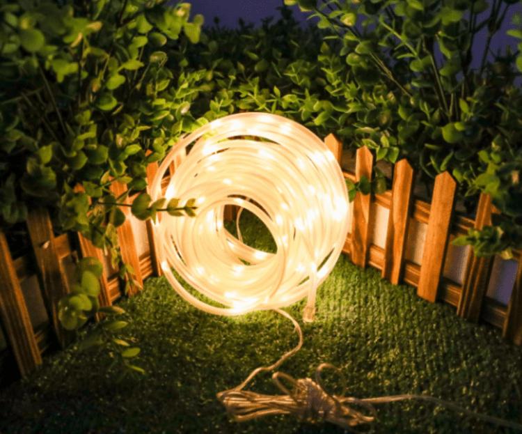 tubo decorativo per esterno solare luce calda
