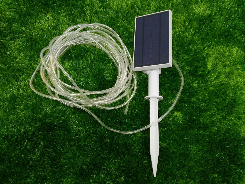 Plafoniera Tubo Led Esterno : Tubo luminoso 100 led ad energia solare bianco freddo ecoworld shop.it