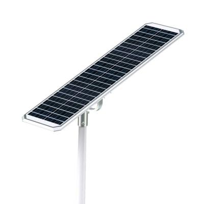 vista pannello fotovoltaico lampione enrgia solare