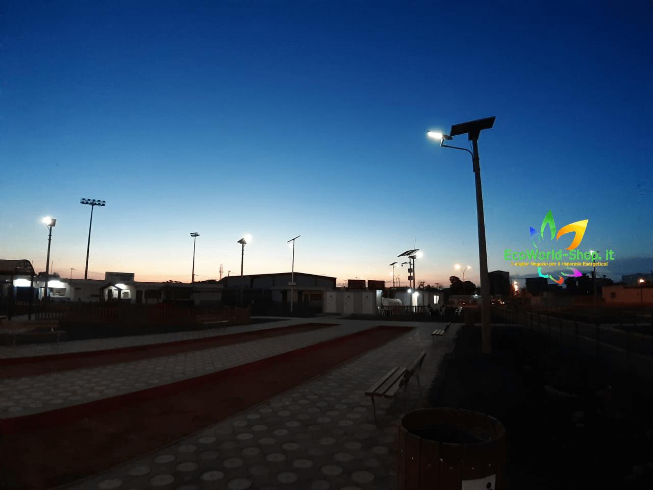 Lampioni solari per illuminiazione esterna