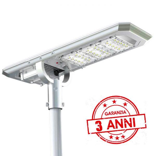 lampione 4000 lumen ad energia solare con 3 anni di garanzia