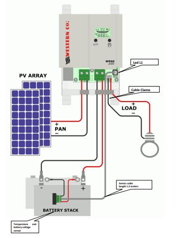 schema di collegamento WR60