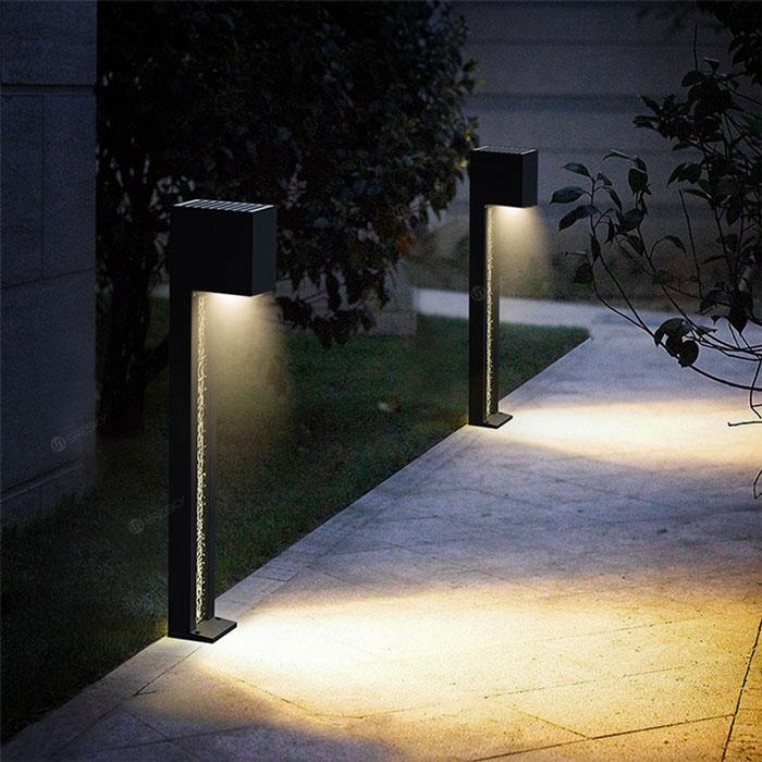 illuminazione con segnapassi solari