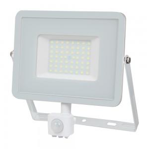 Faro led con sensore di movimento 50 watt bianco 4000 lumen