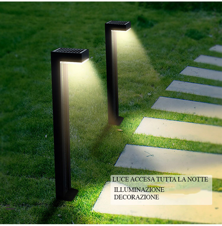 coppia di lampioncini solari da giardino Mirage1