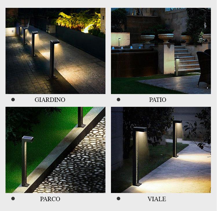 applicazioni del lampioncino solare mirage1