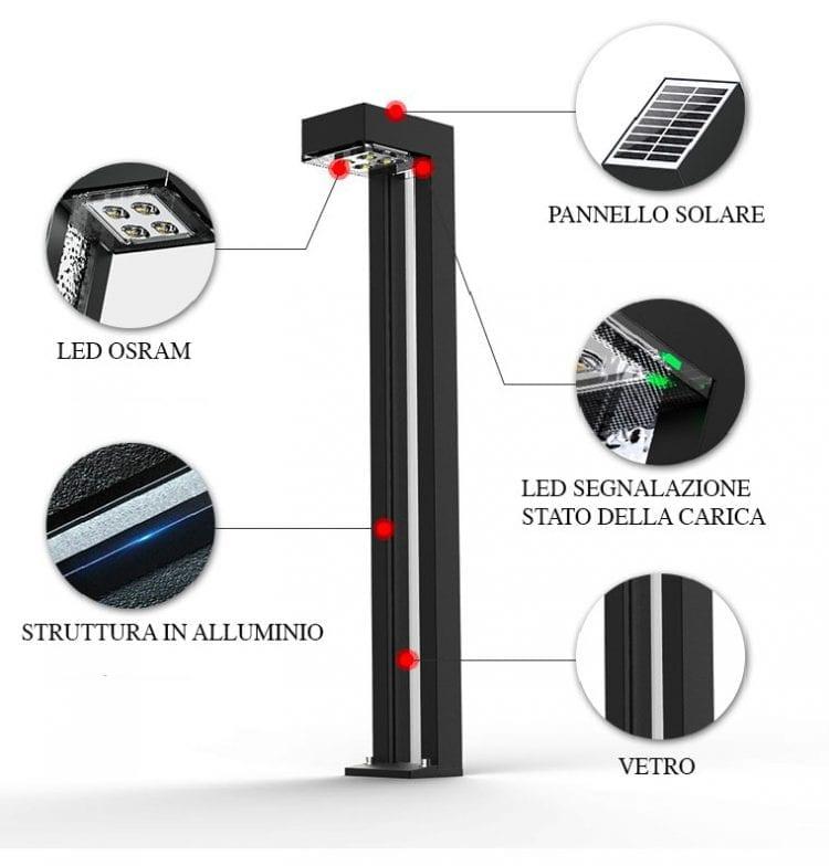 dettagli dei lampioncini solari mirage1