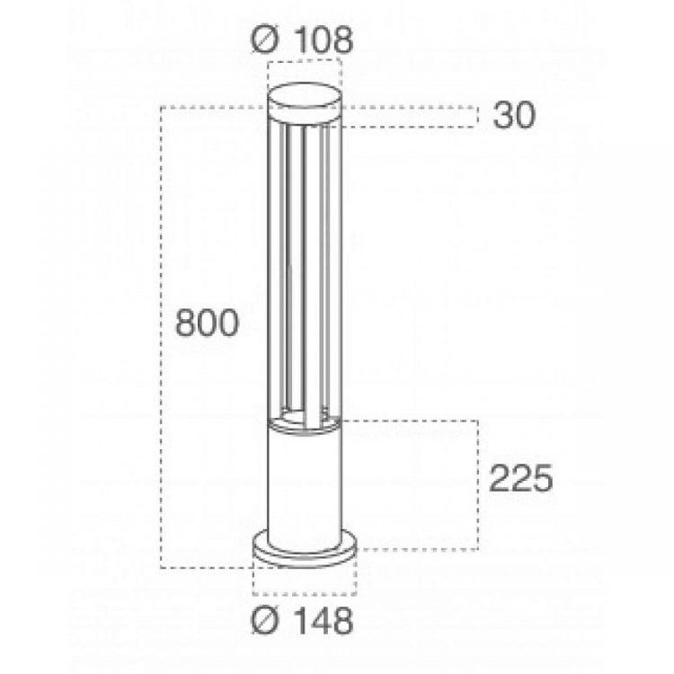 Dimensioni del lampioncino VT-820