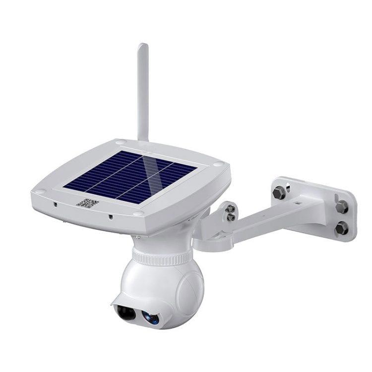 telecamera con pannello solare per esterno