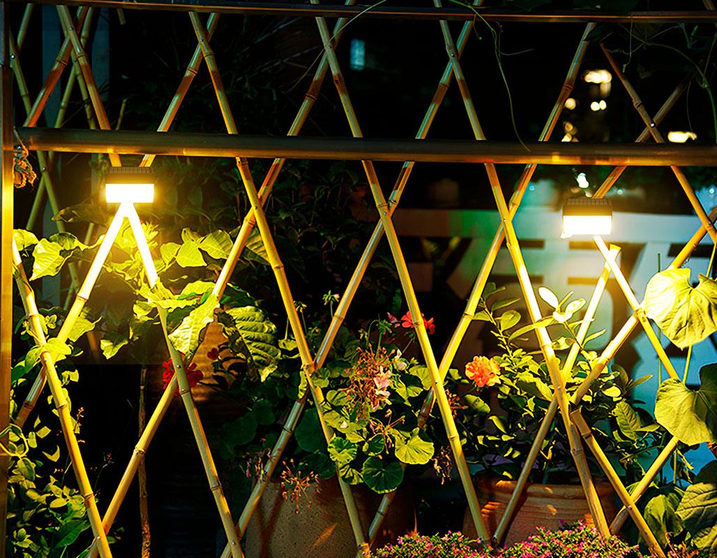 Illuminazione di un orto con lampade solari 1000 lumen