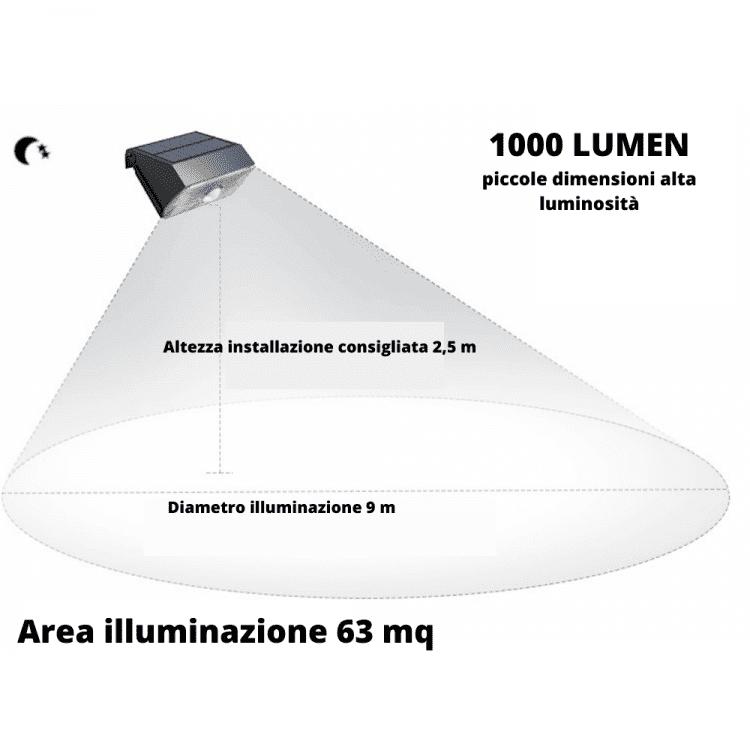 lampada da esterno ad energia solare led