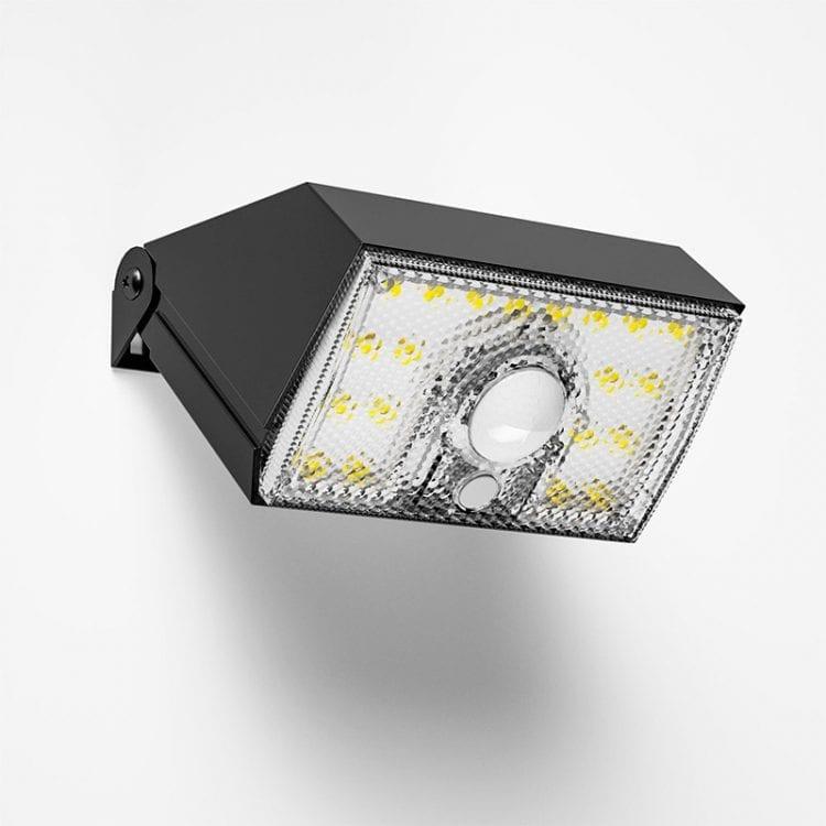 vista laterale lampada solare da esterno 1000 lumen