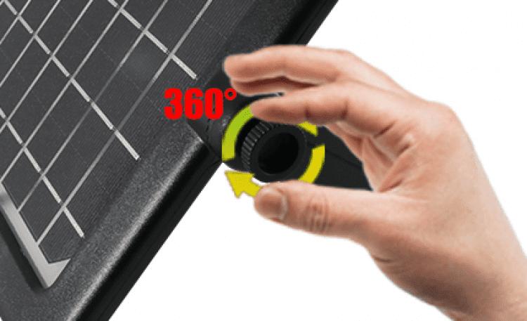 pannello solare per faretto
