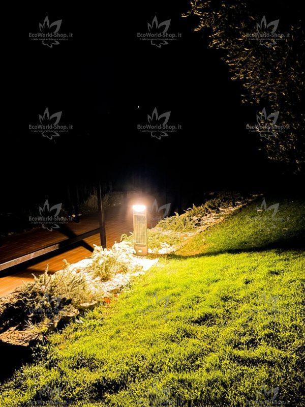 Illuminazione esterna con lampione solare
