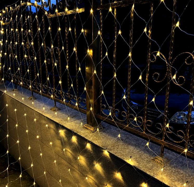 rete luminosa per esterno solare 3x2