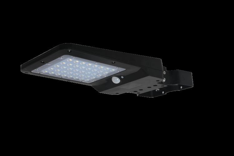 lampione solare con sensore di movimento e crepuscolare