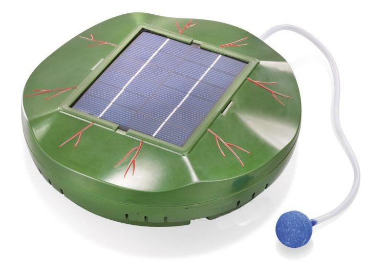ossigenatore per laghetti ad energia solare