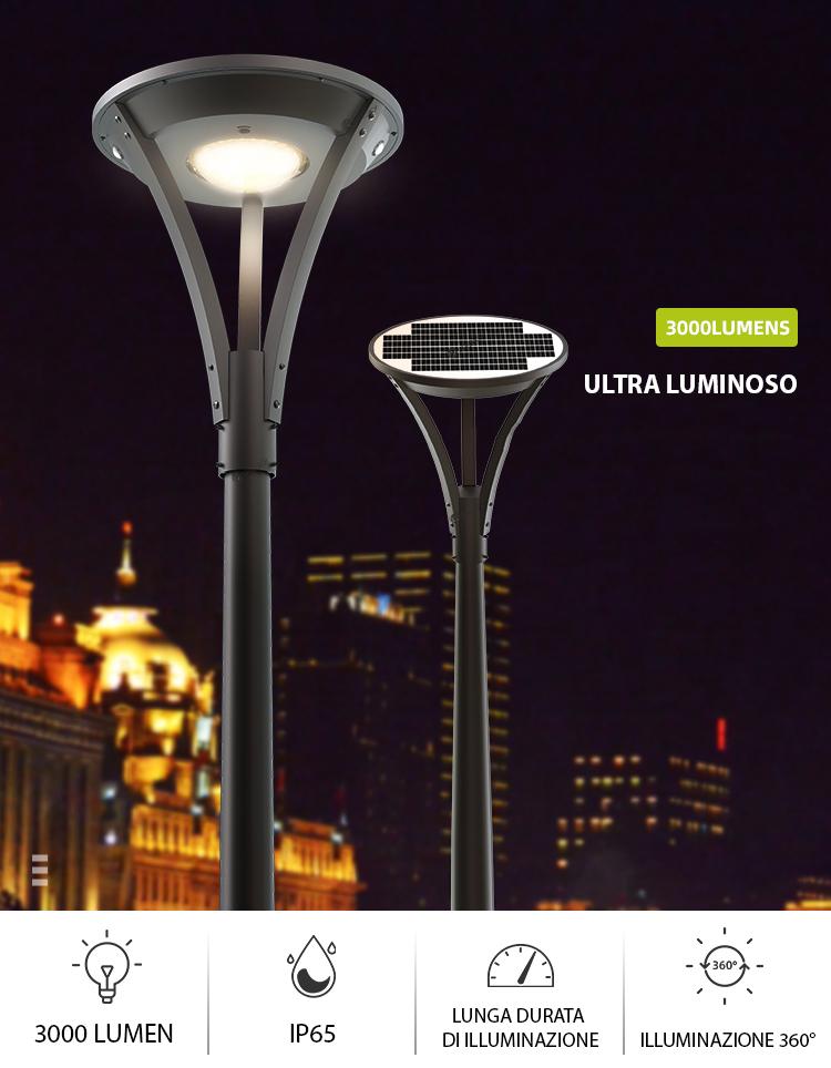 lampione solare 250 watt super luminoso