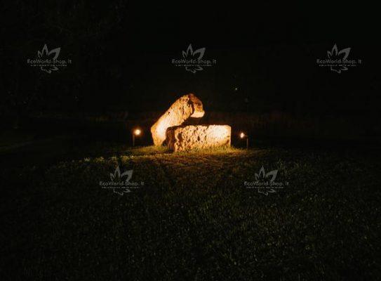 illuminazione notturna con faretti solari con picchetto