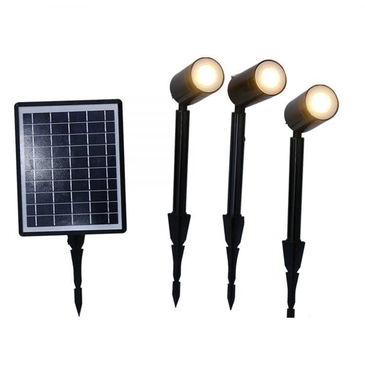 Faretti solari da giardino luce calda