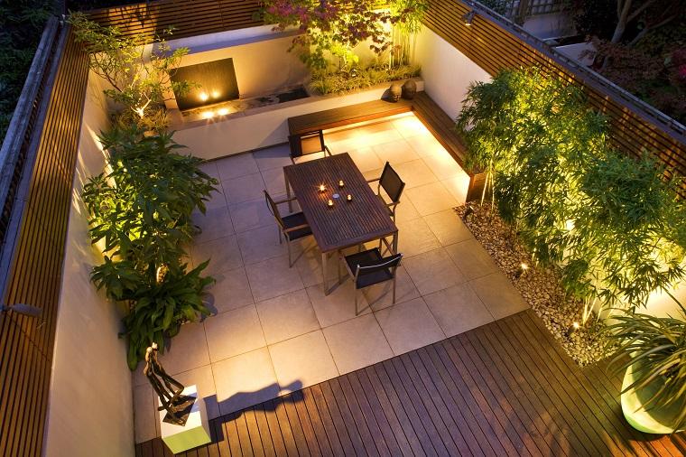 Illuminazione terrazzo energia solare senza corrente