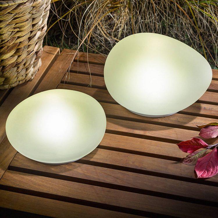 lampada solare da giardino e da tavolo