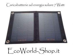 Caricabatteria con pannello fotovoltaico da 7 Wattt