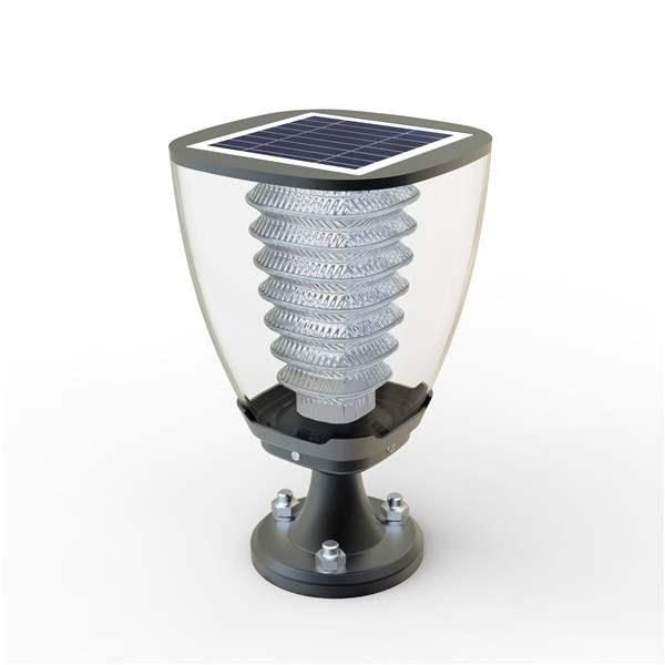 Lampada da giardino a led con pannello fotovoltaico for Filtro per laghetto ad energia solare